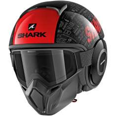 Shark Street Drak Tribute RM KRA Helmet - Black Red Anthracite