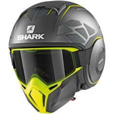 Shark Street Drak Hurok MAT AYK Helmet - Anthracite Yellow Matt Black