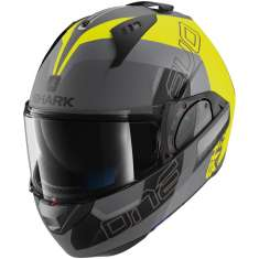 Shark Evo-One 2 Slasher Helmet MAT AYK - Grey Yellow Matt Black
