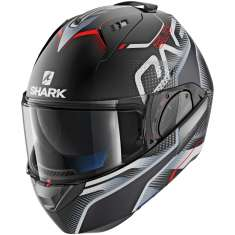 Shark Evo-One 2 Keenser MAT KSR Helmet - Matt Black Silver Red