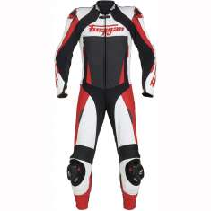 Furygan Full Apex Leather Suit 1 PC - Black White Red