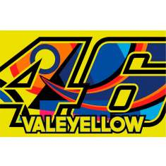 VR46 Vale Yellow 46 Flag - Yellow