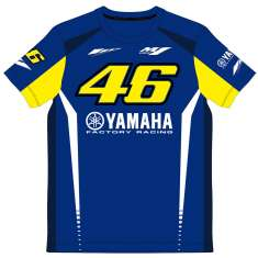 VR46 Yamaha T Shirt - Blue Yellow White