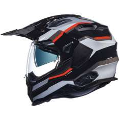 Nexx X.WED 2 X-Patrol Helmet - Black Silver Red