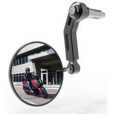 Oxford Premium Aluminium Bar End Mirror Right Side - Black