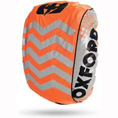Oxford Bright Cover Backpack Cover - Orange Silver Black