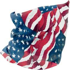 Zan Headgear Summer Motley Neck Tube - Wavy Flag
