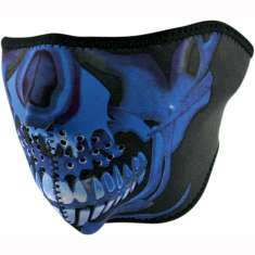 Zan Headgear Face Mask - Blue Skull