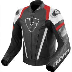 Rev It! Spitfire Leather Jacket - White Red