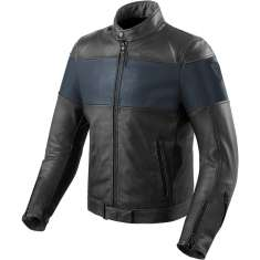 Rev It! Nova Vintage Leather Jacket - Black Blue
