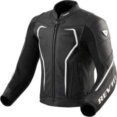 Rev It! Vertex GT Leather Jacket - Black White