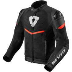 Rev It! Mantis Leather Jacket Air WP - Black Red