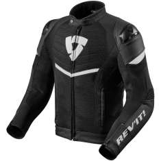 Rev It! Mantis Leather Jacket Air WP - Black White