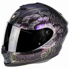 Scorpion Exo-1400 Air Blackspell Helmet - Purple Graphic